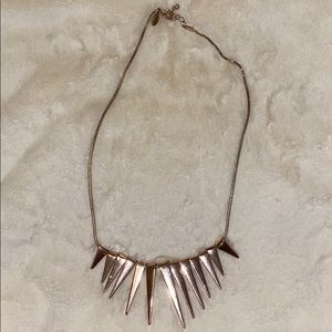 Spikey row gold necklace